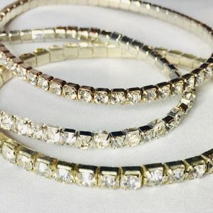 Other - Girls Sparkly Gold Diamond Bracelets